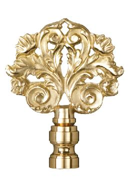 Flower and Leaf Lamp Finial