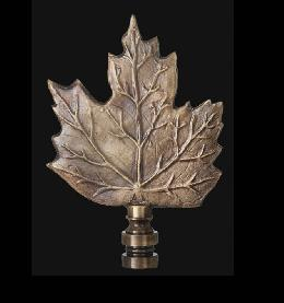Maple Leaf Lamp Finial