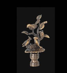 Birds on Branch Lamp Finial