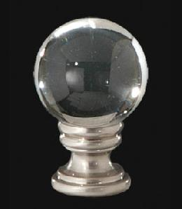 Smooth Crystal Ball Lamp Finial