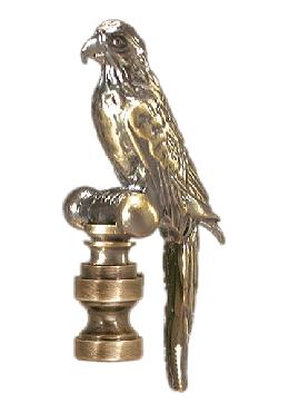 "2 1/4"" Die Cast ""Parrot"" Finial with an Antique Finish"