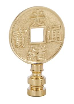 Decorative Brass Asian Motif Finial