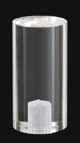 "1 3/4"" Cylinder-Shaped Acrylic Cylinder Finial"