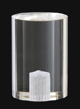 "1 1/2"" Cylinder-Shaped Clear Acrylic Cylinder Finial"