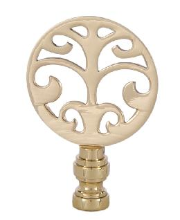 Cast Brass Decorative Lamp Finial