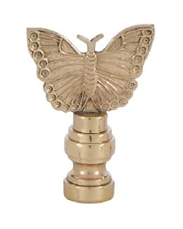 Cast Brass Butterly Lamp Finial