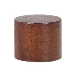 "Small Wooden Drum Style Lamp Finial, 7/8"" ht."