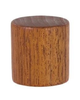 "Wooden Drum Style Lamp Finial, 1 1/4"" ht."
