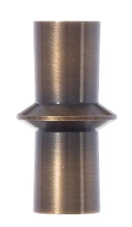 "Bowtie Style Brass Lamp Finial - Antique Brass, 1 7/8"" ht."