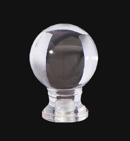 "Clear Acrylic Ball Finial, 1 5/8"" ht."
