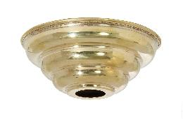 "5"" Diameter Unfinished Spun Brass Beehive Lamp Canopy"