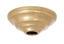 "4-11/16"" Diameter Unfinished Brass Die Cast Canopy"