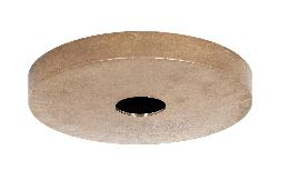 "6-1/4"" Diameter Unfinished Die Cast Brass Canopy, No Bar Holes"