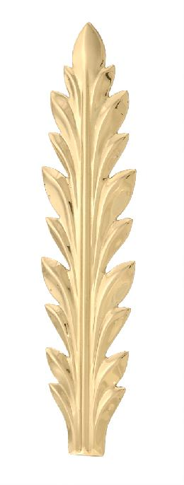 "Stamped Brass Leaf, 6 1/2"" ht."