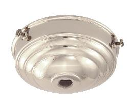 "3 1/4"" fitter, Nickel Finish Deco Style Holder"