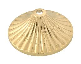Reeded Brass Cap