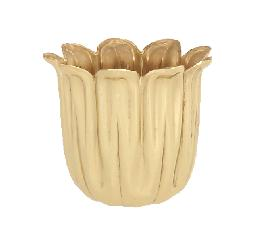 "Stamped Brass Candle Cup, 1 1/2"" ht."