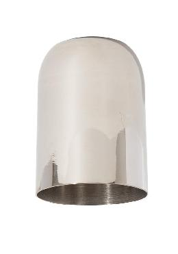 "2.46"" Tall Heavy Polished Nickel Finish Brass Socket Cup, 1/8IP"