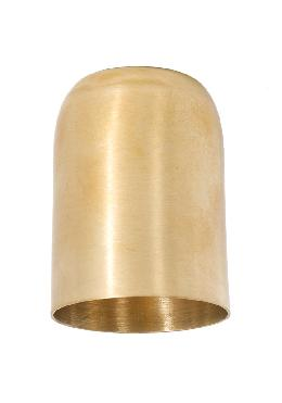 "2.46"" Tall Unfinished Brass Lamp Socket Cup, 1/8IP"