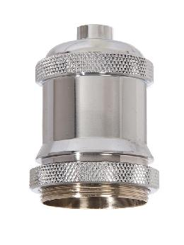 "2-11/16"" Tall Aluminum Socket Cover, 1.7"" ID, 1/8F, Polished Nickel"