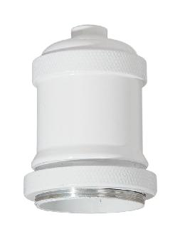 "2-11/16"" Tall Aluminum Socket Cover, 1.7"" ID, 1/8F, White Finish"