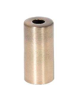 "1-7/8"" Tall E-12 Antique Brass Metal Socket Cup, 1/8IP"