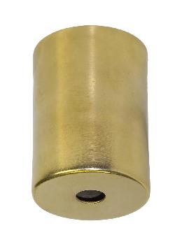 "2-1/4"" Tall Unfinished Brass Lamp Socket Cup, 1/8IP Slip"