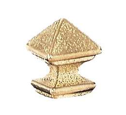 "1"" ht., Brass Mission Style Finial, Tap 1/8F"