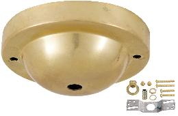 Unfinished Brass Canopy & hardware kit with matching finish