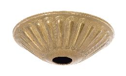 "5-1/2"" Diameter Decorative Unfinished Brass Die Cast Canopy"