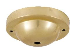 Unfinished, Spun Brass Deep Dome Shaped Ceiling Canopy