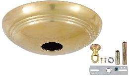 Unfinished Brass Solid Spun Brass Ribbed Canopy Kits
