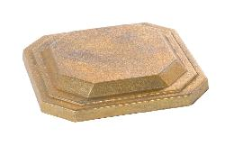 "4-7/8"" Wide Square Unfinished Die Cast Brass Back-plate or Canopy, No Center Hole"