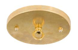 "5 1/4"" Thin Brass Ceiling Canopy Kit with Cast Brass Loop - Unfinished Brass"