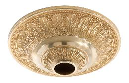 "6"" Diameter, Die Cast Brass Ceiling Canopy with Classic Design, 1-1/16 inch center slip"