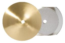 Neckless Ball Shade Holders, Satin Brass Finish