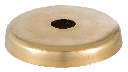 Unfinished Brass Disc Shape Screw Collar Canopy