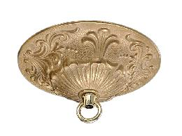 5 1/2 Inch Diameter Finely Detailed, Cast Brass Canopy