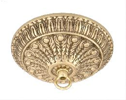 Cast Brass Canopy with Polished Brass Finish