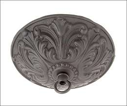 Cast Brass Ceiling Canopy w/Satin Black Finish