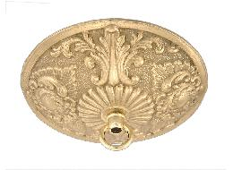 5 1/2 Inch Victorian Style Die Cast Brass Canopy