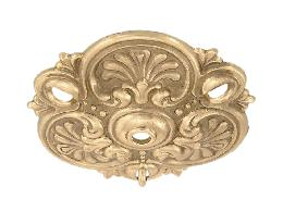 "Cast Brass Chain Drop Canopy, 5 1/4"" dia."