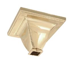 "Brass Mission Style Canopy, Top slips 3/4"" Sq. Tubing"