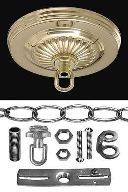 "Solid Brass Canopy Kit, 5 1/4"" dia."