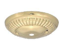 4 7/8 Inch Diameter Stamped Brass Ribbed Design Canopy