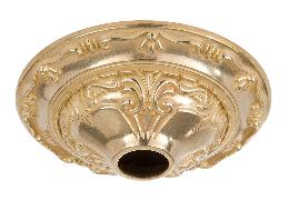 "5-1/2"" Diameter, Die Cast Brass Ceiling Canopy with Classic Design, 1-1/16 inch center slip"