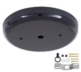 5 1/4 Inch Steel Canopy Kit with Satin Black Finish