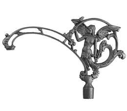 "11 3/4"" ""Angel"" Cast Iron Bridge Lamp Arm"