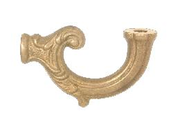 3 7/8 Inch Cast Brass Fixture Arm