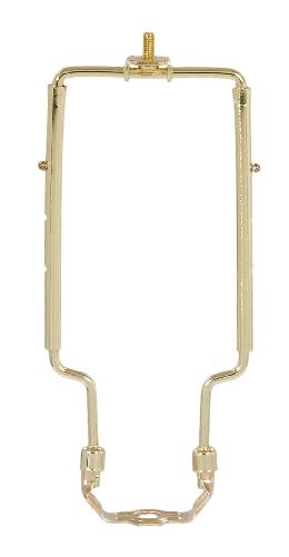 Adjustable Lamp Harp, Brass Plated Finish, Heavy Duty